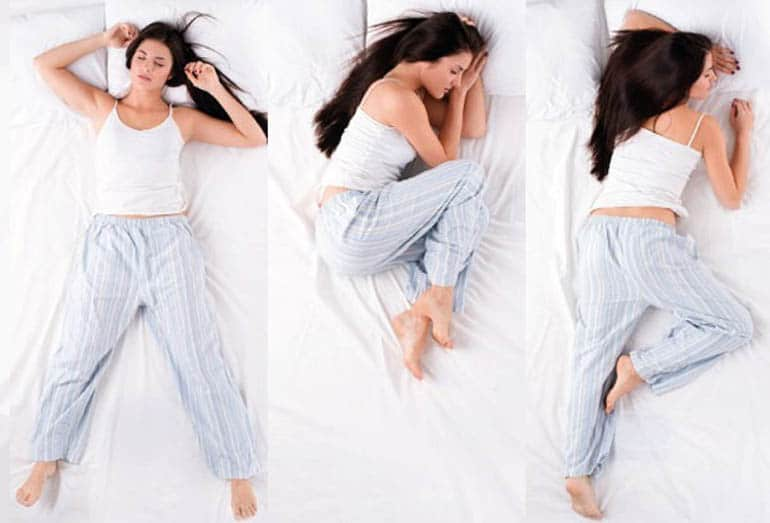 Sleeping positions (back, stomach, side)